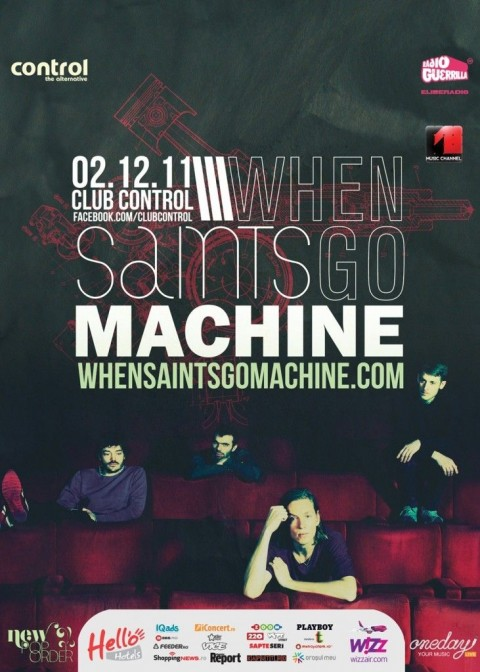 New Pop Order: When Saints Go Machine concerteaza in Club Control