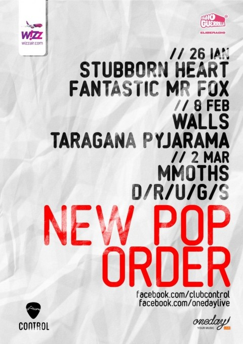 New Pop Order: Stubborn Heart, Walls si Mmoths concerteaza la Bucuresti