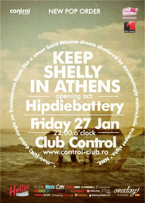 New Pop Order Keep Shelly in Athens concerteaza in Club Control pe 27 ianuarie